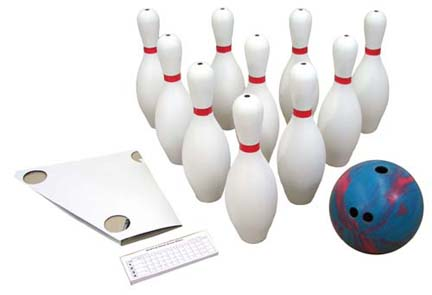2 1/2 lb. 2-Finger Bowling Ball and 10 Pins Set