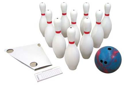 2 1/2 lb. 2-Finger Bowling Ball and 10 Pins Set