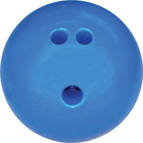 3 lb. Blue Rubberized Plastic Bowling Ball