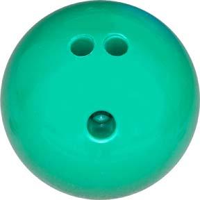 3 lb. Green Rubberized Plastic Bowling Ball