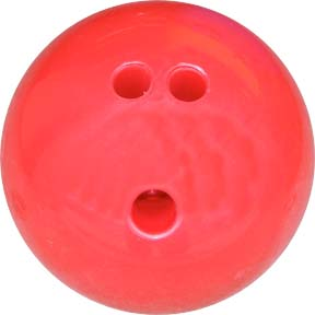 3 lb. Red Rubberized Plastic Bowling Ball