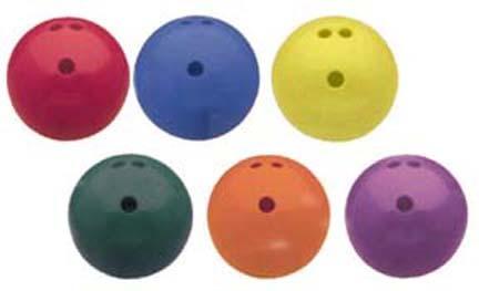 3 lb. Rubberized Plastic Bowling Ball (Set of 6)