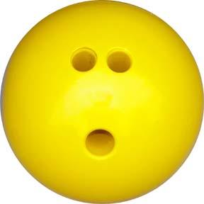 3 lb. Yellow Rubberized Plastic Bowling Ball