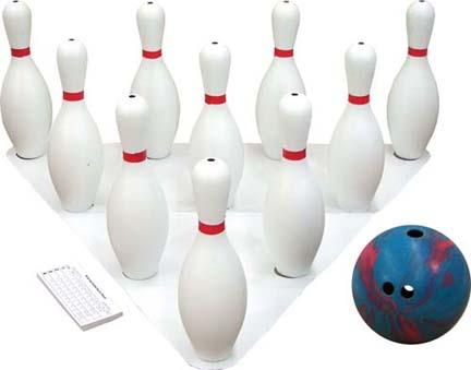 5  lb. 3-Finger Bowling Ball and 10 Pins Set