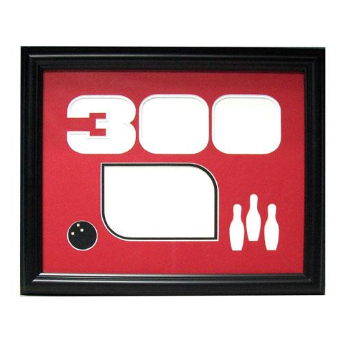 bowlingball.com Black 300 Game Photo Frame Bowling Accessories