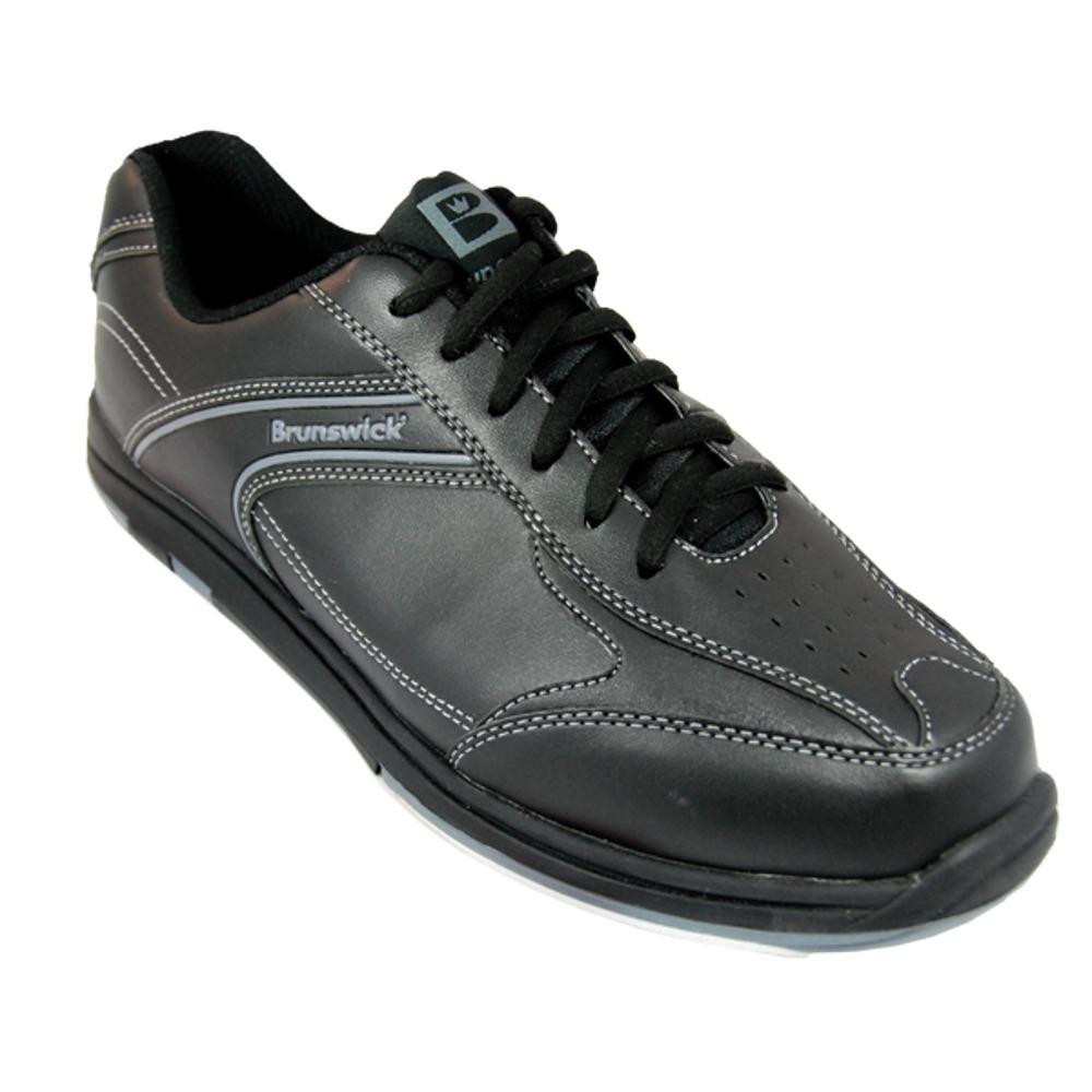 Brunswick Men's Flyer Black Wide Width Bowling Shoes