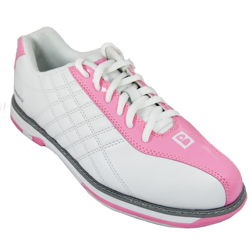 Brunswick Women's Glide White/Pink Bowling Shoes