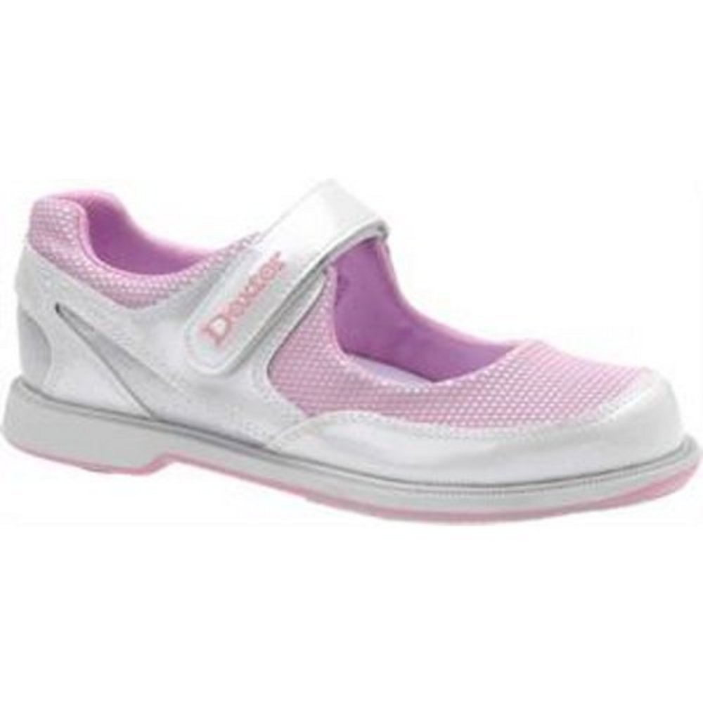 Dexter Women's Mary Jane White/Pink/Silver Bowling Shoes