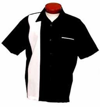 """""""Crossover"""" Bowling Collection Shirt from Mitex (Black/White Medium)"""