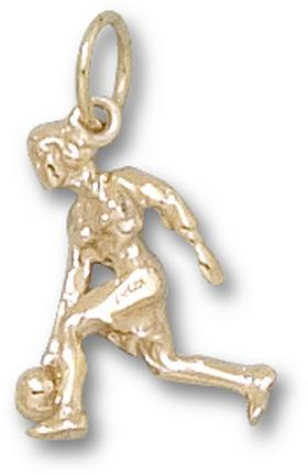"""Female Bowler"" Charm - 14KT Gold Jewelry"
