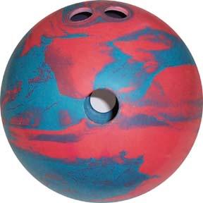 2 1/2 lb. 2-Finger Rubber Bowling Ball