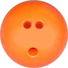 3 lb. Orange Rubberized Plastic Bowling Ball
