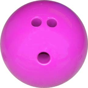 3 lb. Purple Rubberized Plastic Bowling Ball