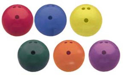 3 lb. Rubberized Plastic Bowling Ball (Set of 6)