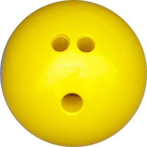 3 lb. Yellow Rubberized Plastic Bowling Ball