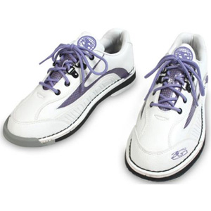3G Bowling Sport Classic White/Purple Women's Left Handed Bowling Shoes