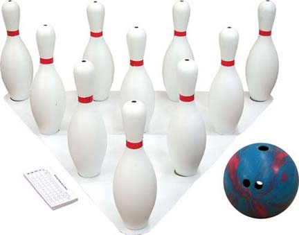5  lb. 3-Finger Bowling Ball and 10 Pins Set