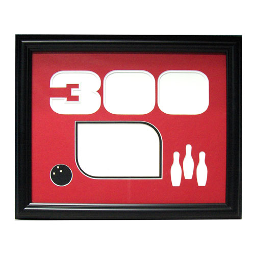bowlingball.com Black 300 Game Photo Frame Bowling Accessories