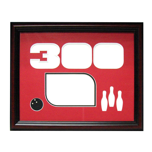 bowlingball.com Mahogany 300 Game Photo Frame Bowling Accessories